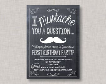 Little Man Invites, Little Man Invitation,Mustache Invitation,Mustache Invite,Little Man Birthday Invitation,Chalkboard Birthday Invitation