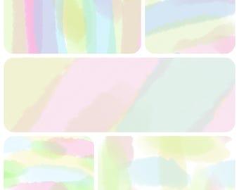 Watercolour Digital Papers set of 5