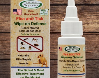Flea and Tick Wipe-on Defense 1oz Formulated for Dogs