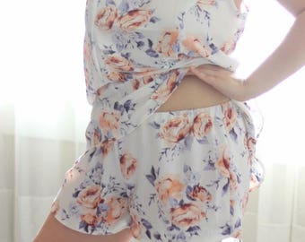 Scuffle Shorts PDF Sewing Pattern, tap short, woven short, lounge short, pajama short, summer short, summer pjs