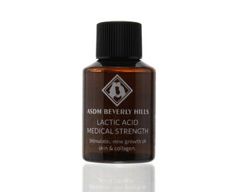 Lactic Acid Peel 25% 1oz Unbuffered, Full Strength, Great for hyperpigmentation