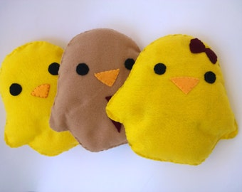 Cute Handmade and Handsewn Kawaii Chick Plush Animal Pillow or Gift Pillow made from Fleece
