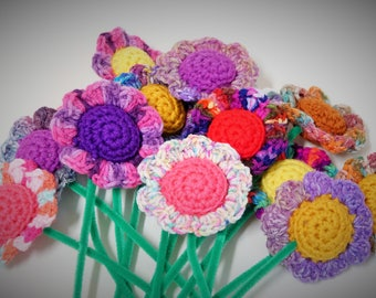 SPRING ITEM!!! Mini Blossom ~ handmade crocheted catnip filled cat toy ! Cole and Marmalade a-purr-oved =)