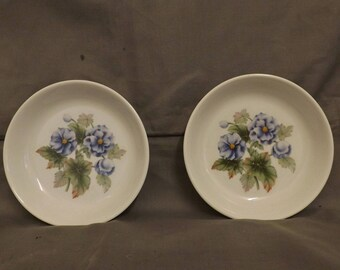 2 Royal Worcester 'Florena' Trinket/Pin Dishes