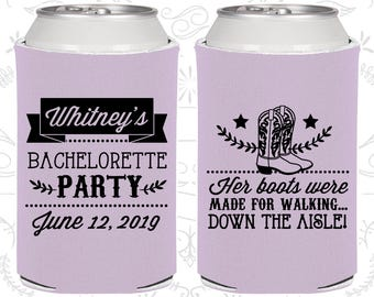 Her Boots were made for walking down the isle, Personalized Bachelorette Party Decor, Western Bachelorette Party Gifts (60072)