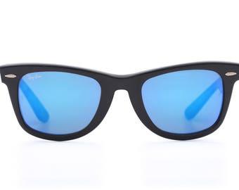 Ray Ban B&L Wayfarer 50 22 blue mirrored lenses