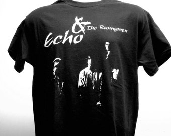 Echo & The Bunnymen T-shirt (FREE SHIPPING in the Usa only) The Cure Siouxsie and the Banshees The Church Bauhaus Sisters of Mercy Goth Punk