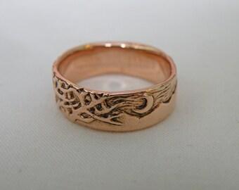 14K Rose Gold Wisdom Ring - size 10