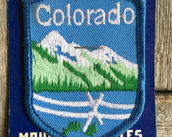 Colorado Vintage Souvenir Travel Patch from Mountain States Specialties