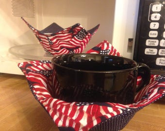 American Flag bowl cozy