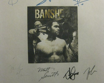 Banshee Signed TV Script Screenplay X10 Autographs Anthony Starr Ivana Milicevic Frankie Faison Anthony Ruivivar Ben Cross Michael Papajohn