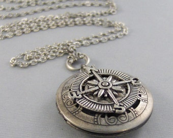 Scented Compass,Locket,Apothecary,Choose Your Scent,Lavender,Compass Necklace, Locket,Scent Locket,compass Locket,Jewelry, valleygirldesign