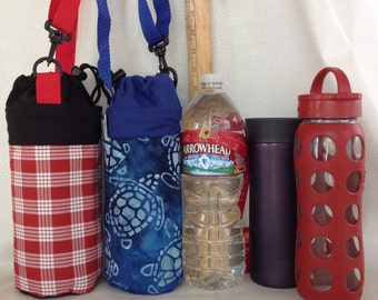 Insulated Tote for 32 - 33.8 oz. (Liter/quart) size containers sea turtle or palaka