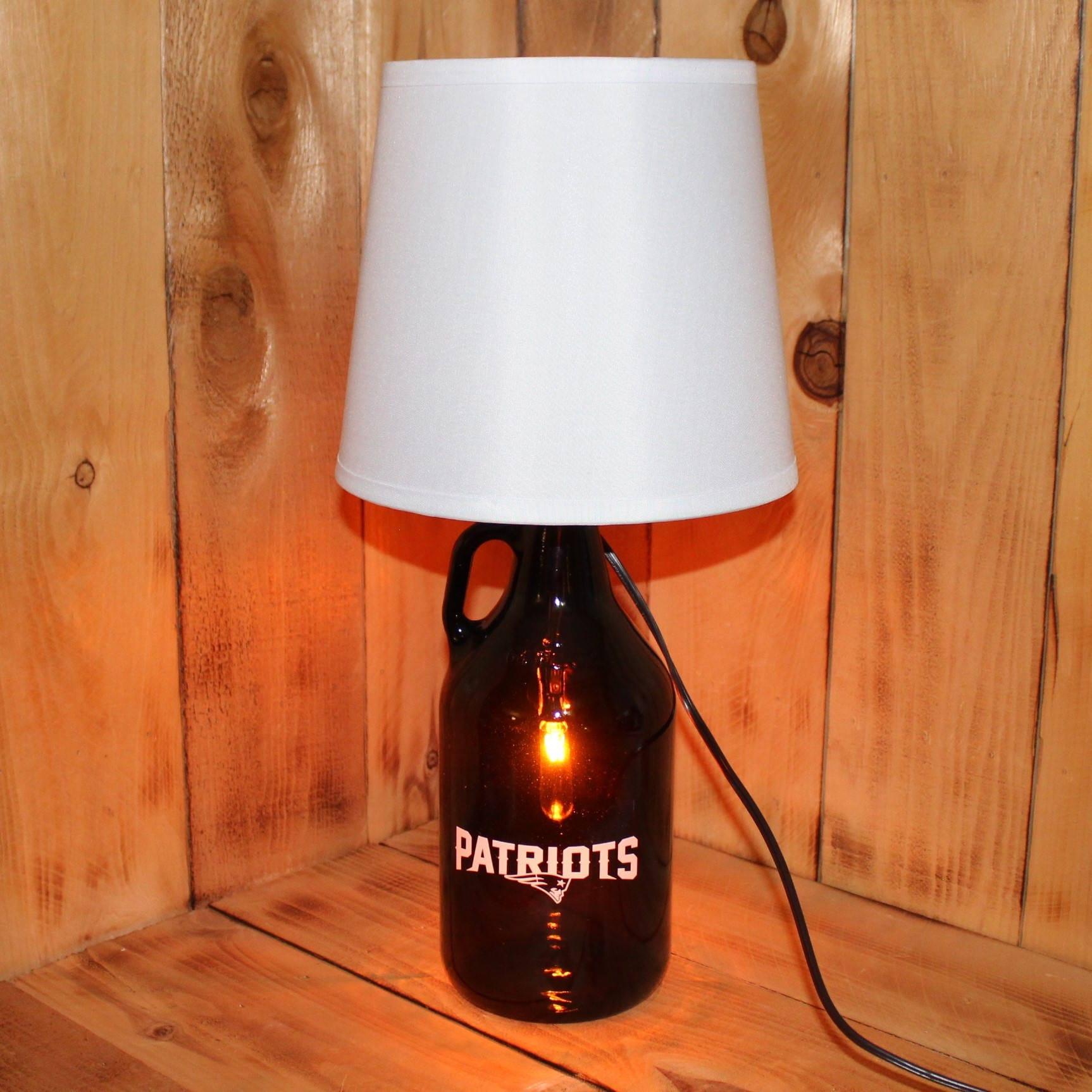 zoom Patriots Football Beer Growler Lamp with