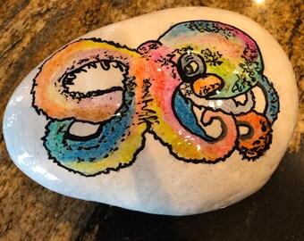 Watercolor Octopus in Resin