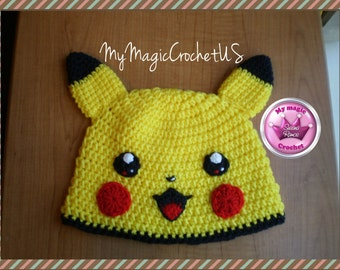 Pikachu Crochet Hat Made with Soft yarn