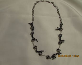 Ribbon on Chain Necklace
