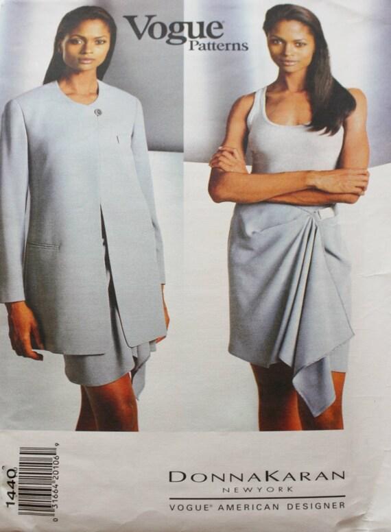 Donna Karan Womens Jacket und Wrap Rock OP Vogue Schnittmuster