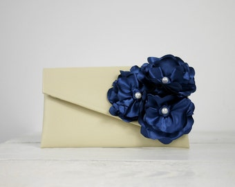 Navy Blue Bridesmaid Clutch | Wedding Purse in your choice of color