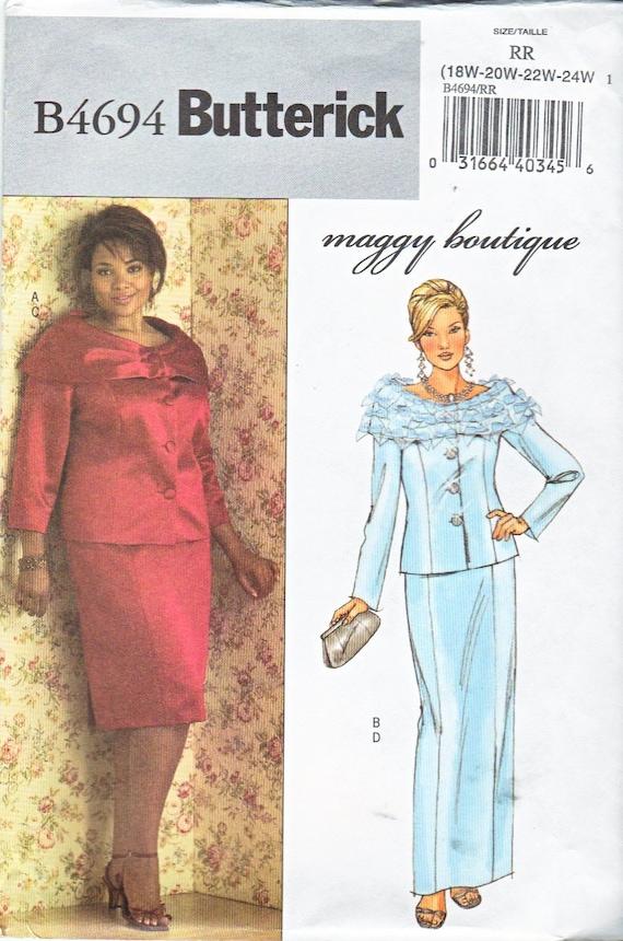 Butterick B4694 Sewing Pattern Petite Jacket Skirt