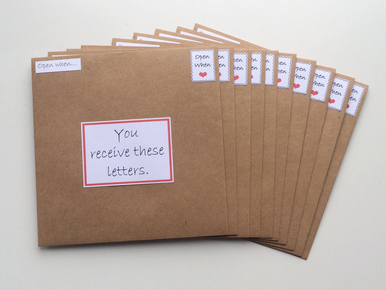 Open when letters long distance relationship friendship open