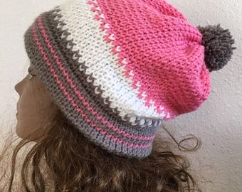 Wild Horse Hat  --  a loom knit pattern