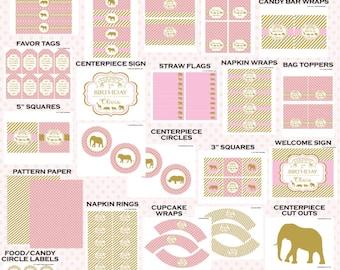 Safari Birthday | Safari Birthday Decorations | Party Printables | Girl Safari | Wild One | Two Wild | Wild and Three | The Party Darling