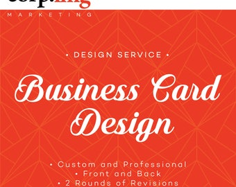 Business Card Design - Card Design Service - Custom Business Card Design - Calling Cards, Mommy Cards, Single or Double Sided