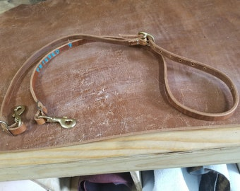 Custom leather reins