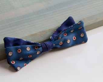 Sherman Bowtie, 50's style bow tie, Red white and blue bowtie, Clipper style