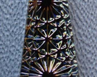 TABAC: 20x10mm German Kaleidoscope Firework Intaglio Keystone Trapezoid Pendant Earring Pairs (2)