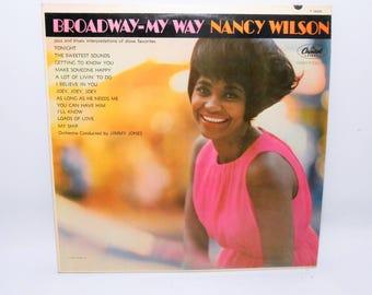 Nancy Wilson, Broadway - My Way, Vintage Vinyl Album, Vinyl Record, Jazz, Pop, Music, LP, 33