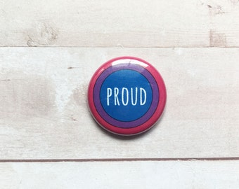 Bisexual Pride- one inch pinback button
