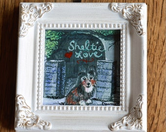 Sheltie Watercolor, Sheltie Print, Sheltie Art, Pet Memorial, Customize, Personalized Art, Shetland Sheepdog, Framed Art, Sheltie Love, Art