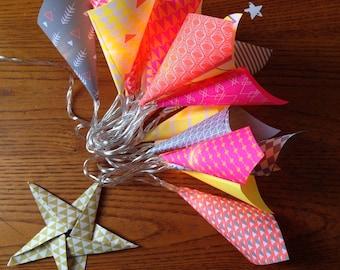 Light paper origami Garland