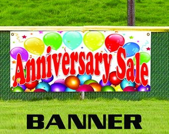 Anniversary Sale Balloons Business Promotion Advertising Vinyl Banner Sign