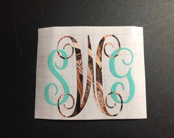 Camo Monogram Decal