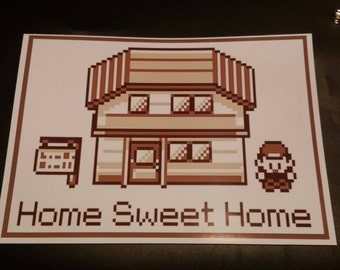 """Pokemon poster """"Home sweet home"""" A4 SALE"""