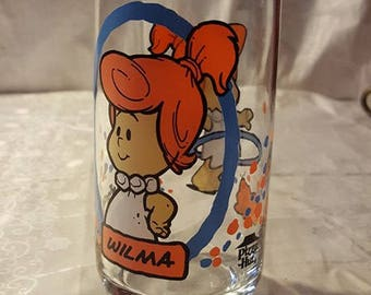 Wilma Flintstone glass