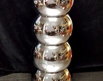 60-70's vintage 4-orb, ball or bubble chrome table lamp is  amazing