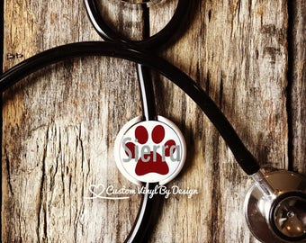 LIttman Stethoscope ID Tag | Stethoscope ID Tag | Stethoscope Name Tag | Stethoscope Accessories | Vet Tech Gift |  Vet Assistant Gift