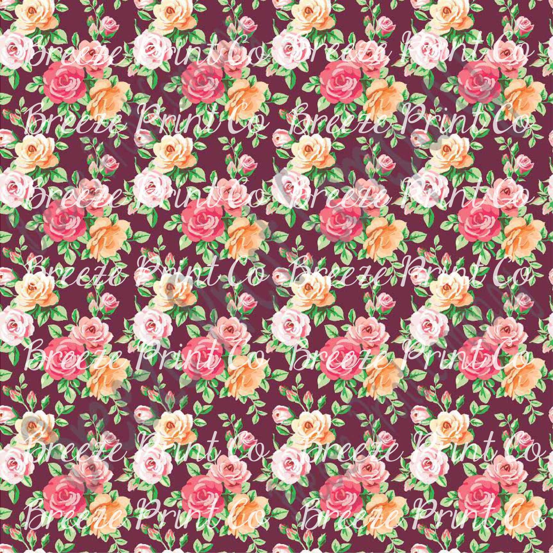 Rose floral craft vinyl sheet htv or adhesive vinyl for Rose adesive