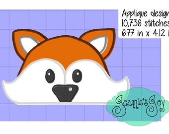 Applique  Peeker design -Foxxy Fox