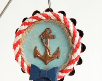 Vintage tin ornament / tin art / vintage tin / home decor / recycled tin / vintage ornament / christmas ornament / assemblage art