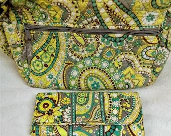 Vera Bradley Shoulder Bag and Matching Wallet