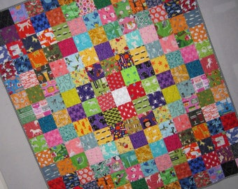 UNIQUE QUILT Trip Around the World I Spy Baby Quilt Wallhanging Colorful and Fun for All Ages