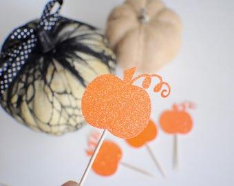 Pumpkin Cupcake topper, Halloween cupcake, Halloween Party, Thanksgiving cupcake topper, Thanksgiving party, Thanksgiving Dinner