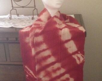 Mud Cloth Scarf-Red