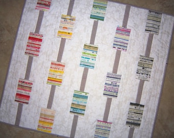 BAR CODES Colorful Retro Modern Quilt from Quilts by Elena Selvages