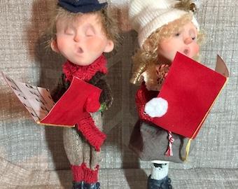 Handmade Dolls Christmas Caroler Kids- DoReMe N Friends - NonnasSantas- Christmas Music - Art Dolls - OOAK Dolls -